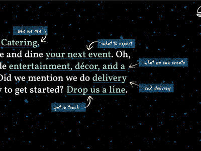 Mad Libs Expanded Nav blue texture vector expanded nav navigation ui web food catering