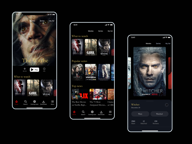 Movies uiux uidesign movies mobile app design app uxdesign ui design ux ui design