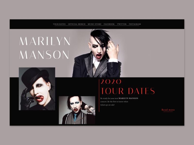 Marilyn Manson dark daily design daily ui dailyui daily interface webuiuxdesign website design webdesign web design uiux website uxdesign web ui design uidesign ux ui design