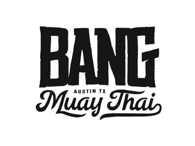 Bang Muay Thai Logo one-color muay thai bang logo