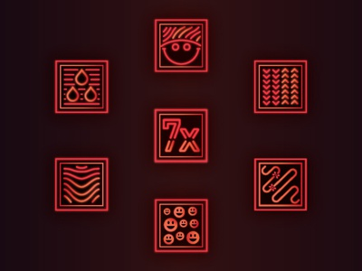 Infrared Heated Yoga Icons