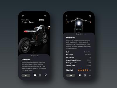 Bike Shop App bike app online shopping bike shop product page ecommerce app nepali bike electric bike ui design ux ui app design app adobexd