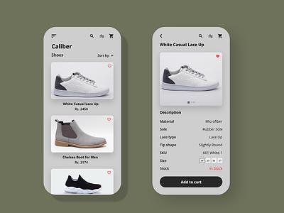 Shoe E-Commerce App nepali online store shoe app ecommerce app shopping ui design ux ui app design app adobexd