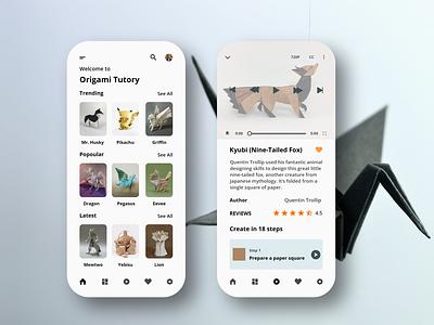 Origami Paper Art App course app online course origami studio origami ui design ux ui app design app adobexd
