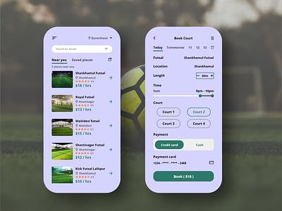 Futsal Booking App football booking system online booking booking app futsal booking futsal digital ui design ux ui app design app adobexd
