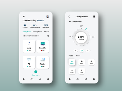 Smart Home App Design weather forecast weather app remote control controller smart home smarthome ui design ux ui app design app adobexd