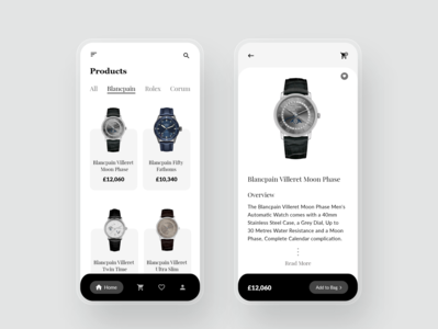 Watch Shop App ui design watch ui watches watch online store online shopping ecommerce design ecommerce app ui app design app adobexd