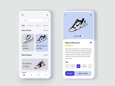 Shoes Store App Design shoes store shoes app ecommerce design online shopping ecommerce app ui design ux ui app design app adobexd