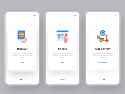 Food Delivery App On boarding Screen onboarding ui onboarding screen onboarding food app design food delivery app ecommerce design ecommerce app ui design ux ui app design app adobexd