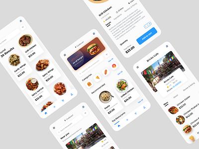 Food Ordering App food app online food order online shop food delivery food ordering app ui design ux ui app design app adobexd