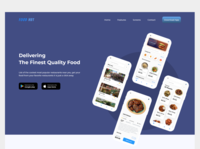 Food Delivery App Landing Page food landing page food website landing page design landing page website design webdesign web adobexd