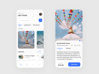 Travel Service App Design booking app booking travel agency travelling travel booking travel app travel nepali nepal ui design ui app design app adobexd