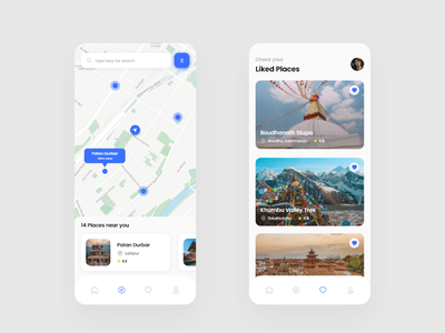 Travel Service App Design booking app booking travelling travel app travel nearby nepal map bookings ui design ui app design app adobexd