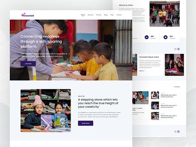 ShareSkill Nepal website design organization homepage landing page design landing page web webdesign web design website design website ui  ux ui design ui