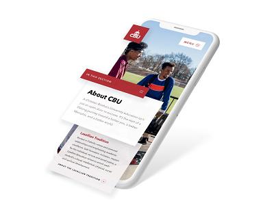 CBU Website design ui ux higher education highered college website marketing university
