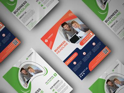 Business Flyer branding simple graphic design mordern retro business flyer flyer