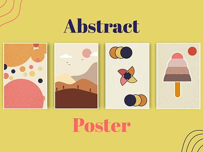 Abstract Art Poster retro trend ai art absrtact