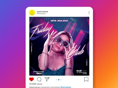 Party Flyer Design night club flyer social media instagram club event branding graphic design abstract party flyer