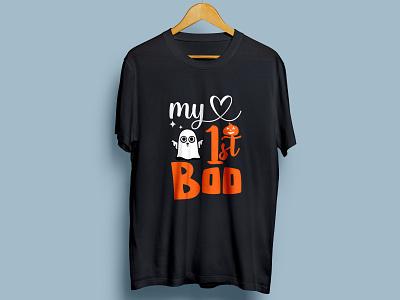 Halloween T-shirt Design vector design illustration absrtact logo halloween t-shirt christmas october 31 spooky boo art branding retro t-shirt halloween