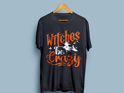 Witches be Crazy - T-shirt design 3 ui vector design logo branding illustration graphic design absrtact retro art t-shirt halloween happy halloween