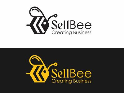 Sell Bee Logo Design app typography ai logo brand simple minimal brand logotype ui vector logo design branding illustration graphic design absrtact retro art