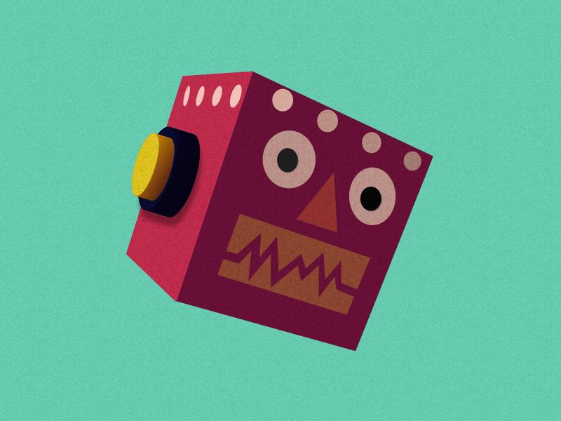 Robic vector illustration illustrator robot sketch simple