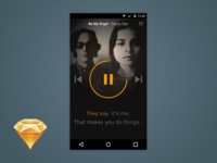 Karaoke App (Free .sketch download)