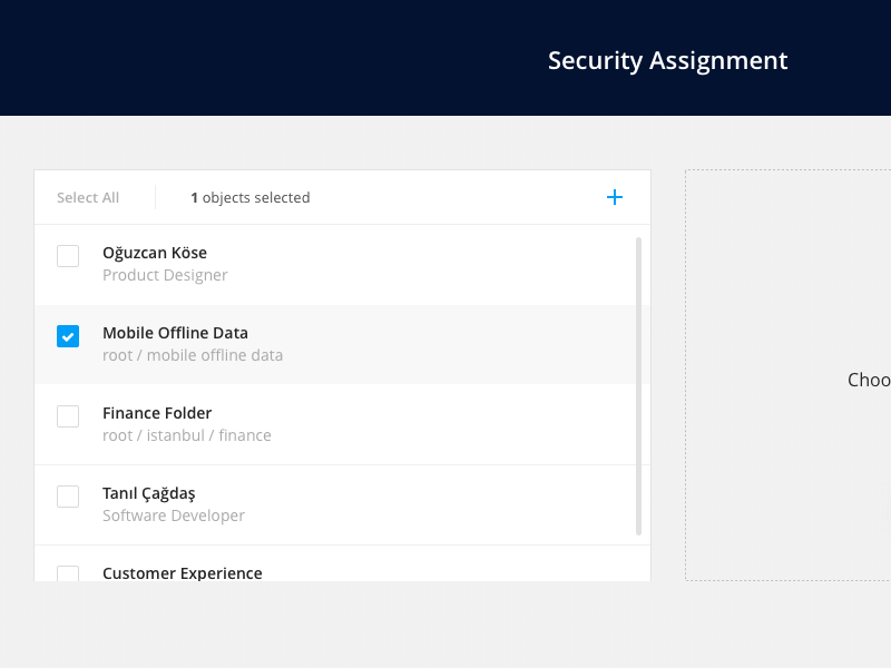 Security Assignment enterprise sap bulk ux ui sketch