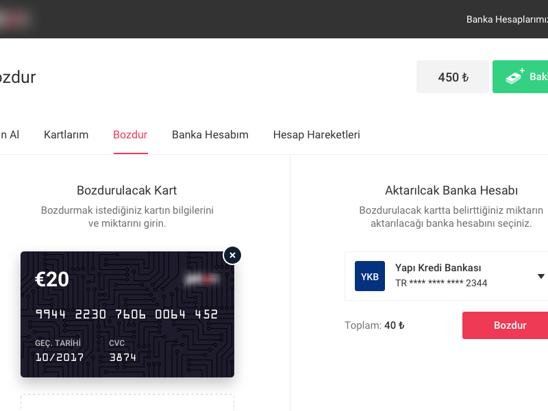 Dashboard - Exchange clean voucher card dashboard ui ux
