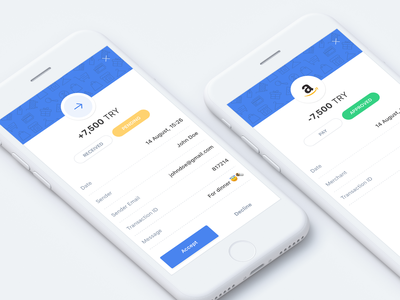 Transaction History list history transaction clean mobile dashboard fintech minimal ux flat sketch ui