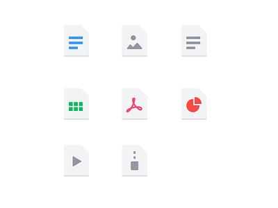 File Types form clean fintech getform dashboard minimal ui icon set icon
