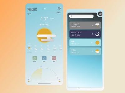 Weather app idea app japanese weather forecast weatherapp weather interface uxui ui