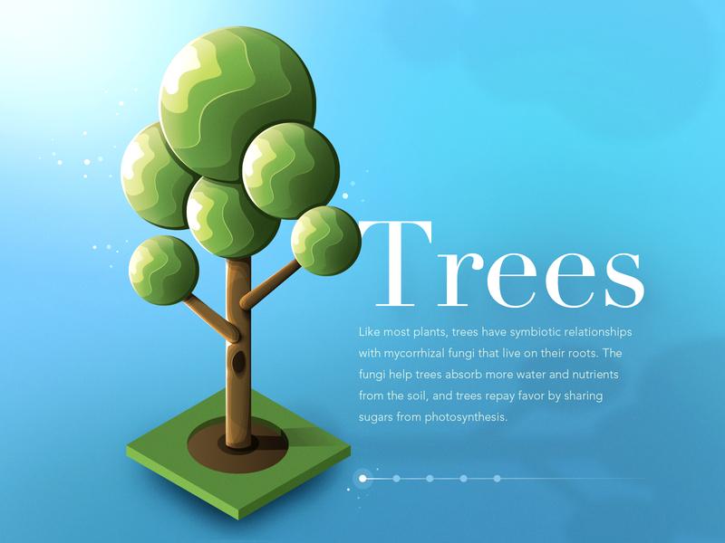 Isometric tree UI concept photoshop illustrator ui design tree trees game ui design isometric ui blue isometric illustration vector illustration