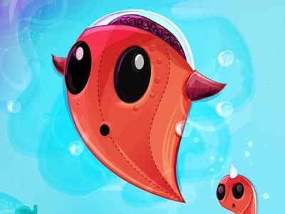 Spirit Evolved spirit character underwater sea brain water seaweed bubbles creature ocean