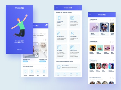 Mobiokit - HTML Mobile UI Design Kit mobile html template mobile website mobile design mobile app design mobile template mobile ui kit