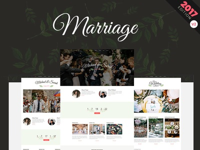 New Marriage WP Theme design