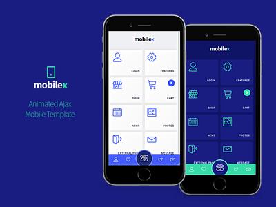 Mobilex Animated Mobile Template