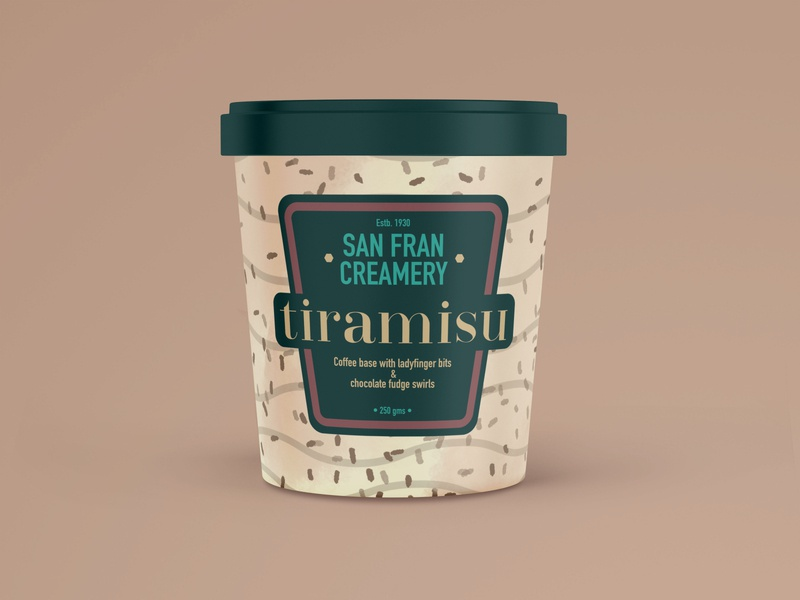 Ice Cream Package Design packagedesign dribbbleweeklywarmup food package mockup design