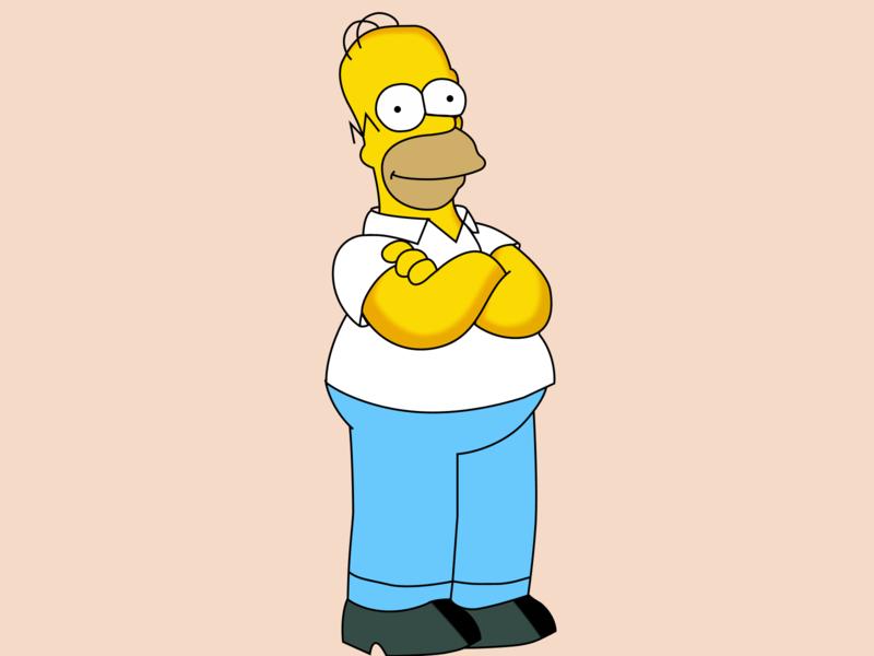 Homer Simpson Character simpson homer simpson homer branding figmadesign character activity design icon vector illustration vector illustration