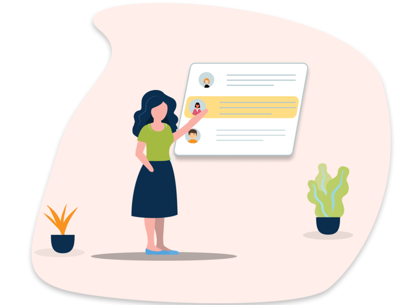 Chat onboarding screen character design chatting app vector ui girl character character activity figmadesign design icon vector illustration vector illustration