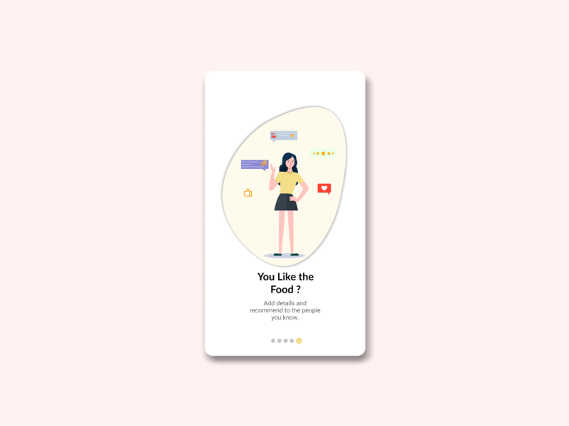Food review Onboarding UI onboarding icon vector illustration ux ui onboarding illustration onboarding screen onboarding ui branding figmadesign girl character vector illustration