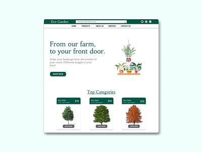 Online Tree selling website design ui ui  ux website concept website design plant shop tree house online shop online selling