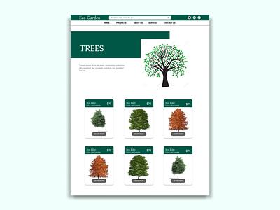 Online Tree selling website design about page aboutus website concept ui ux tree house plant shop online shop illustration branding ui design figmadesign vector illustration