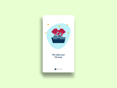 Online Laundry Onboarding UI vector illustration typography ux onboarding ui ui figmadesign illustration service app mobile app laundry app laundry service