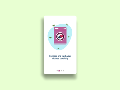 Online Laundry Onboarding UI branding ui illustration serviceapp figmadesign laundry service laundry app uiux typogaphy