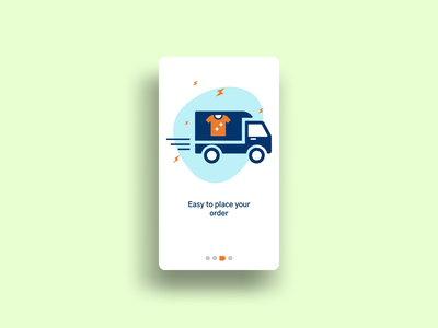 Online Laundry Onboarding UI delivery truck delivery service ui figmadesign illustration vector illustration onboarding illustration onboarding screens onboarding ui uiux laundry app laundryservice