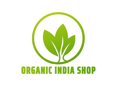 Logo for Organic Shop organic logo design vector branding logo illustration