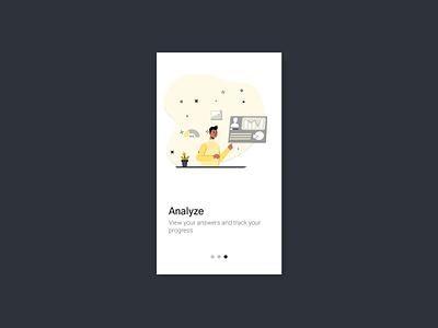 Onboarding Illustration for Survey App design figmadesign vector illustration illustration onboarding flow onboarding ui onboarding screens mobileapps survey app