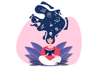 Skill Development Vector Illustration education education app skill development student girl character character figmadesign illustration vector illustration