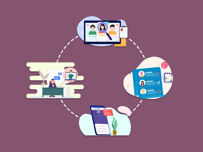 Interview Selection Process Illustration illustration design figmadesign vector illustration
